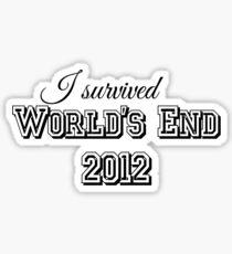 I survided world's end 2012 Sticker