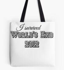 I survided world's end 2012 Tote Bag