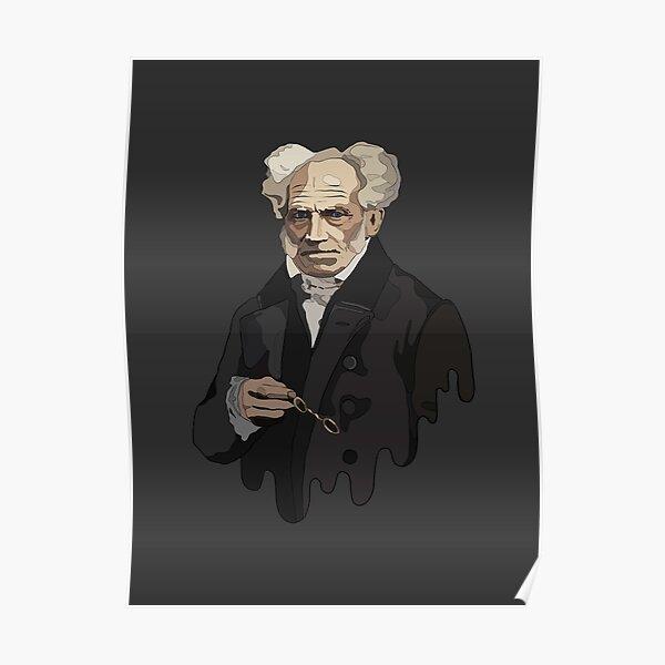 Illustration of Arthur Schopenhauer - a German philosopher, representative of pessimism Poster