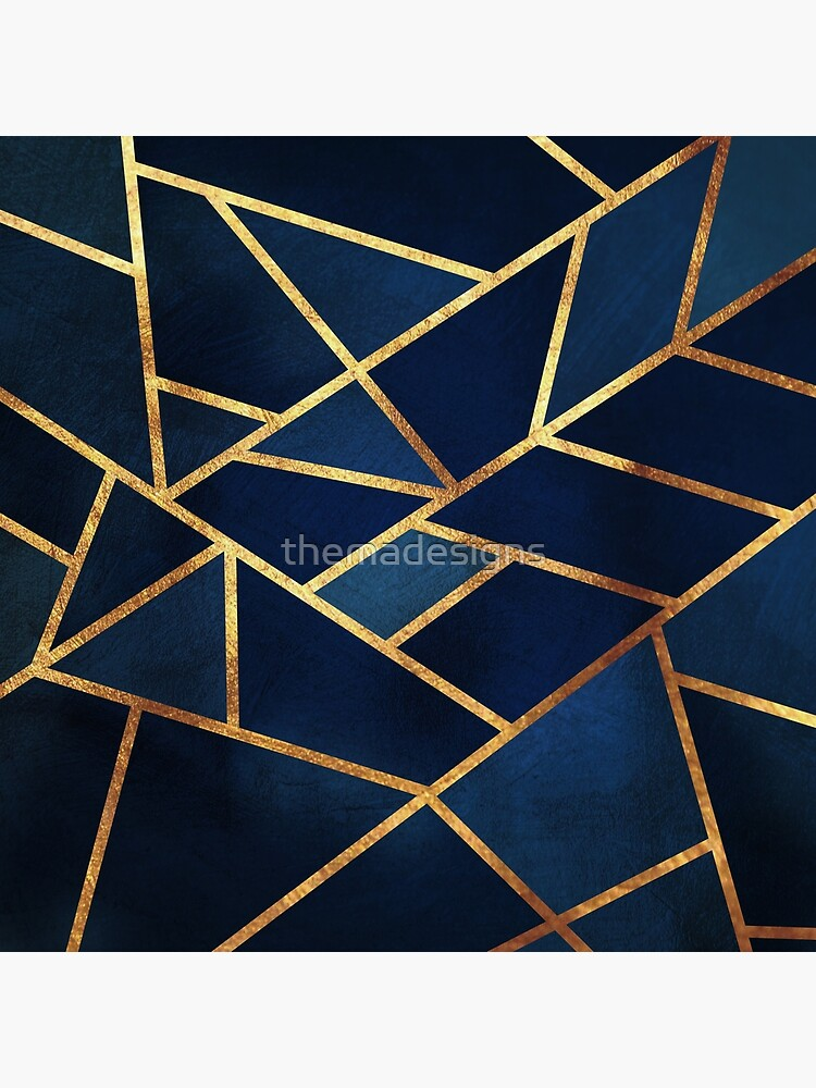 Navy Gold Stone Geometric by themadesigns