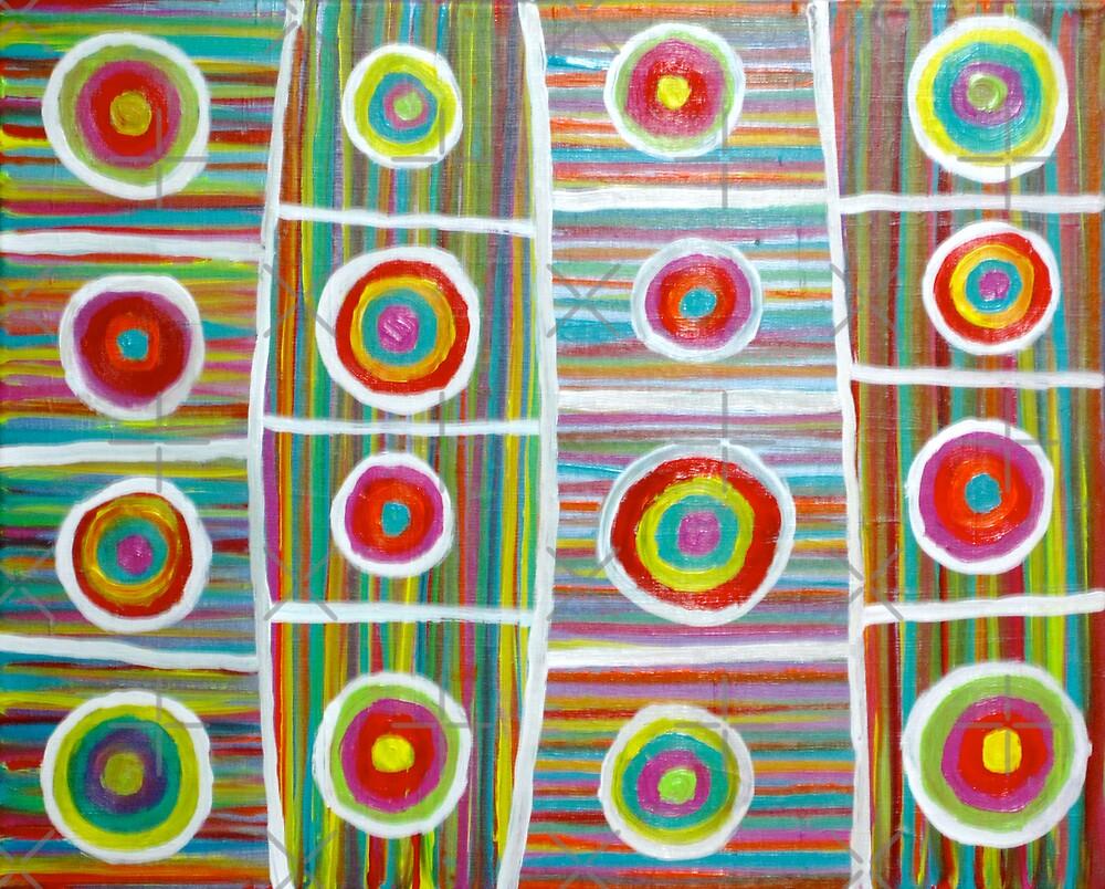 Wheels in a Colorful Rain by Jeremy Aiyadurai