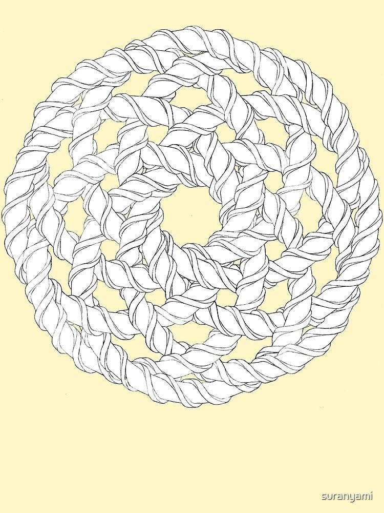 Interlocking Helices Black/White by suranyami