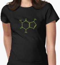 Caffeine molecule Women's Fitted T-Shirt