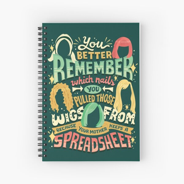 Your mother keeps a spreadsheet Spiral Notebook
