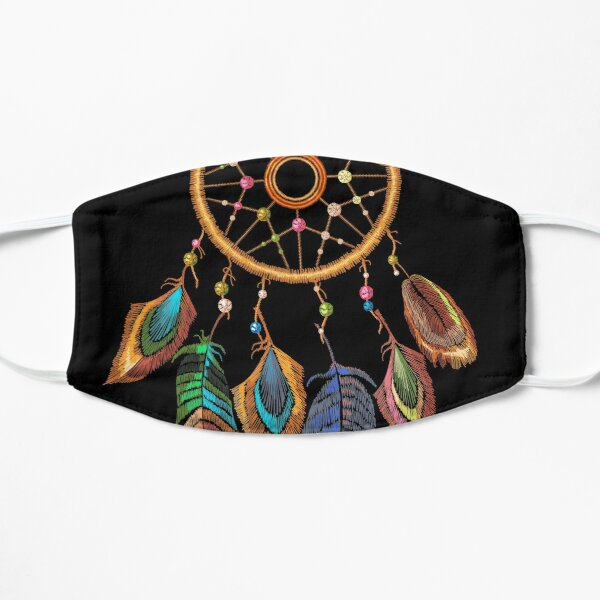 Embroidery dream catcher Flat Mask