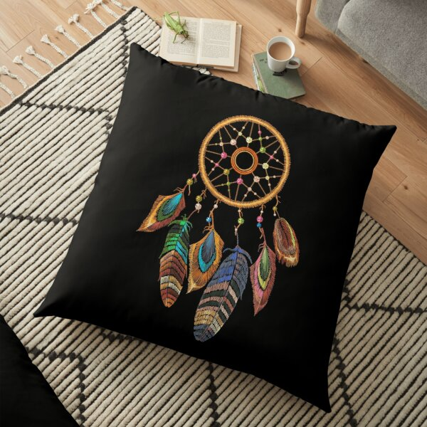 Embroidery dream catcher Floor Pillow