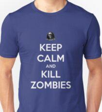 Keep Calm And Kill Zombies (Shirt & Stickers - Black) T-Shirt