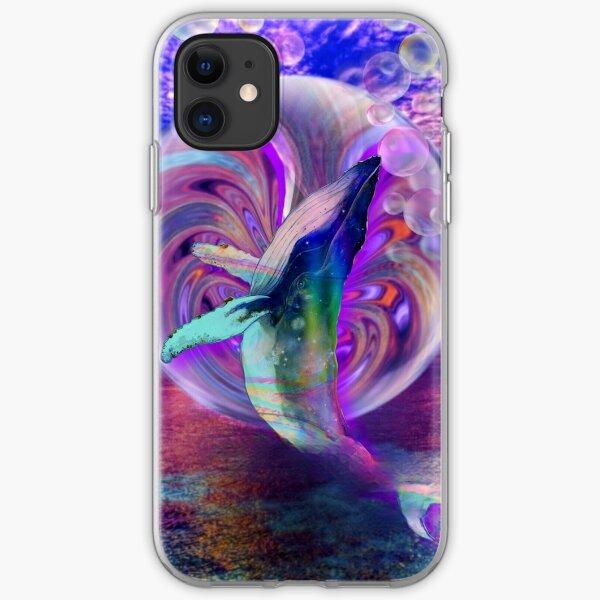 Rainbow whale iPhone Soft Case