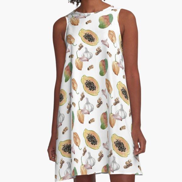 Habanero Pepper - White A-Line Dress