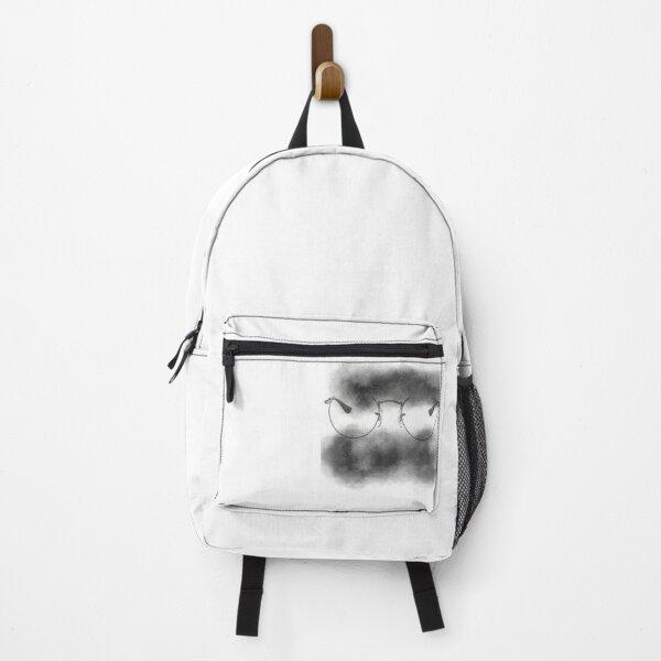 Grey Glasses & Watercolors Design Backpack