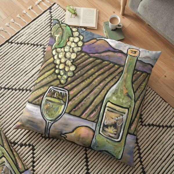 Chardonnay Daydreams Floor Pillow