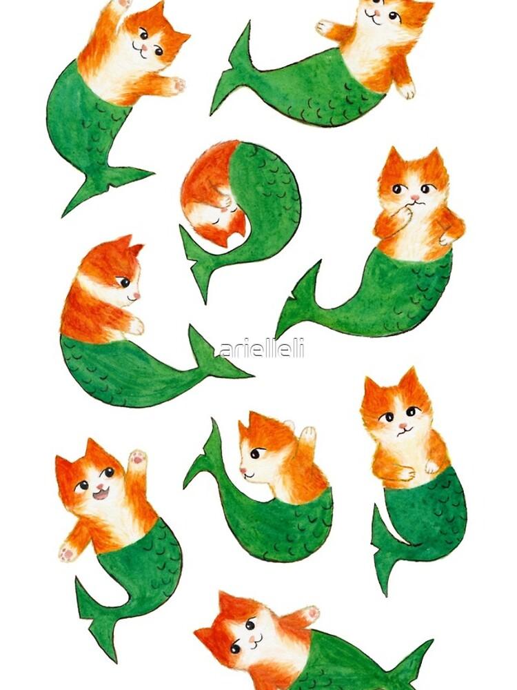 Mermeows Mercats Madness - Some Cute Mermaid Cats by arielleli