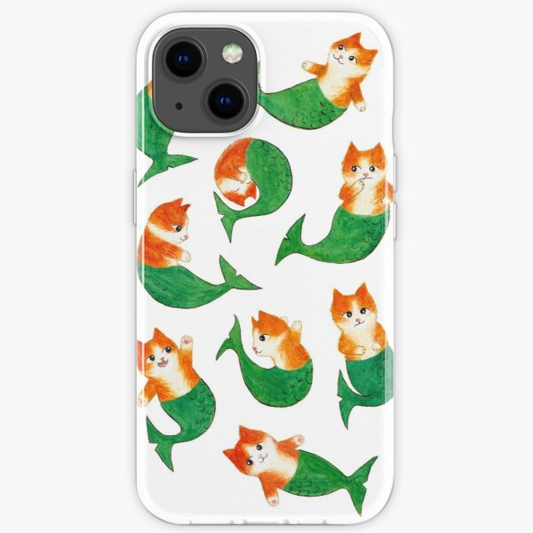 Mermeows Mercats Madness - Some Cute Mermaid Cats iPhone Soft Case