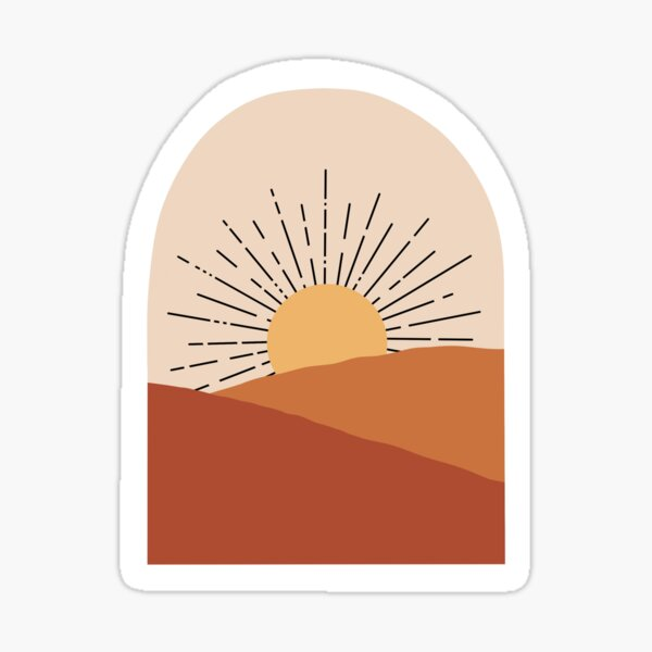 Boho wam toned sunrise Sticker