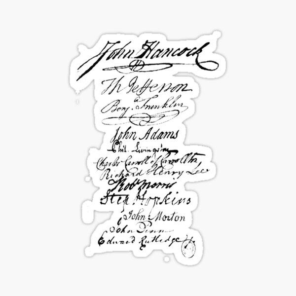 Founders' Signatures Sticker