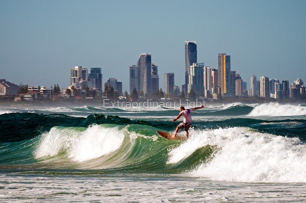Surfing at the Gold Coast by Extraordinary Light