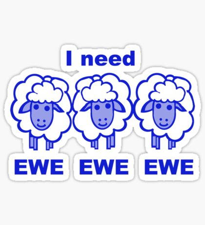 Blues Sheep Sticker