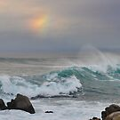 Pacific Grove Coast and Winter Rainbow by padillai