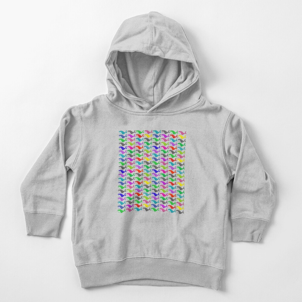 Rainbow whales Toddler Pullover Hoodie