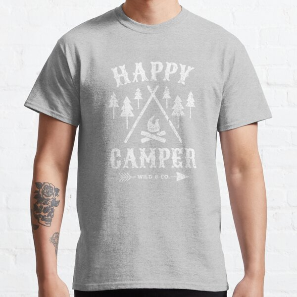 Happy Camper distressed white Classic T-Shirt