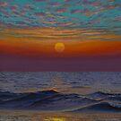Indian ocean. Sunset by Vrindavan Das