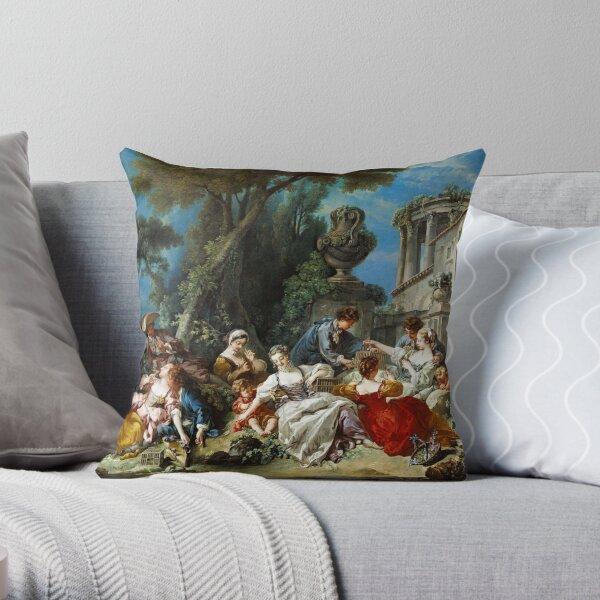 Francois Boucher - The Bird Catchers Throw Pillow