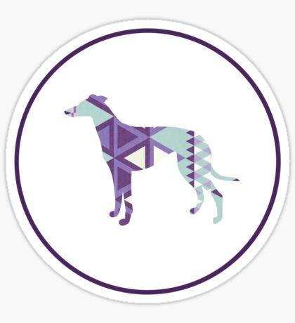 Greyhound Geometri Sticker