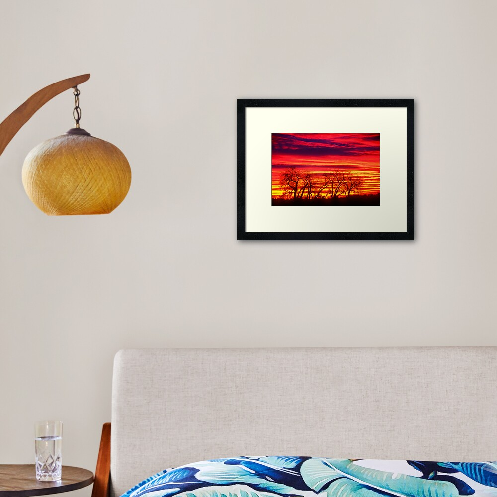 Fire In The Soul Sunrise Framed Art Print