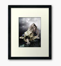 Rainy day woman Framed Print