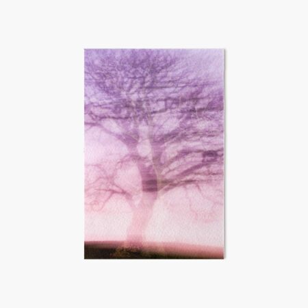 The Dancing Tree with the Purple Veil Art Board Print