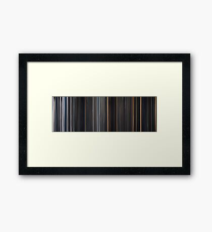 Moviebarcode: The Thing (2011) Framed Print
