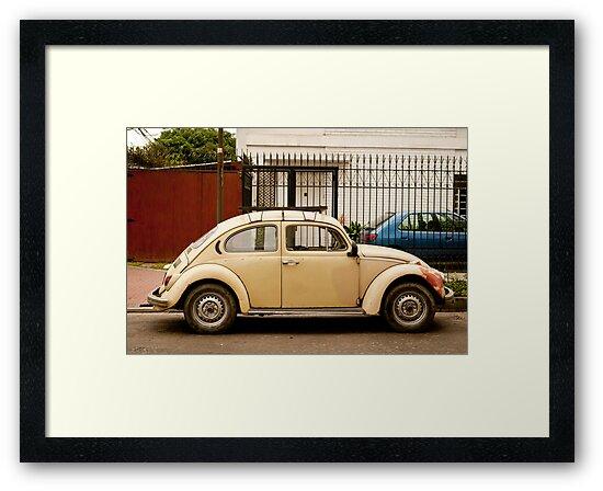 Tan Volkswagen Beetle by Sam Scholes