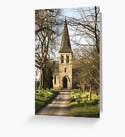 St Mary's Church, Sand Hutton Greeting Card