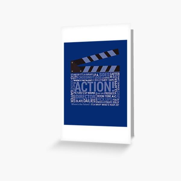 Filmmaker Film Crew Director Producer Movie Clapper Greeting Card