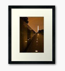 Vietnam Washington Memorial Framed Print