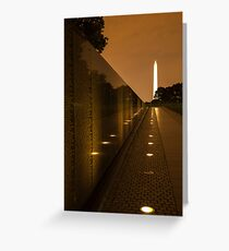 Vietnam Washington Memorial Greeting Card