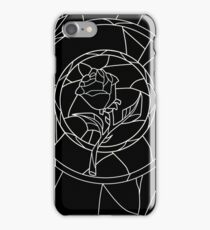 Stained Glass Rose Black iPhone Case/Skin