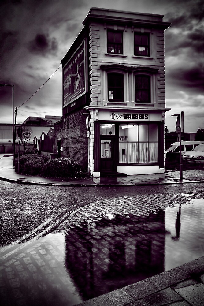 Blue Town Barbers by Dave Godden