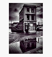 Blue Town Barbers Photographic Print