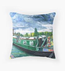 Jon Allen's Narrow Boat Throw Pillow