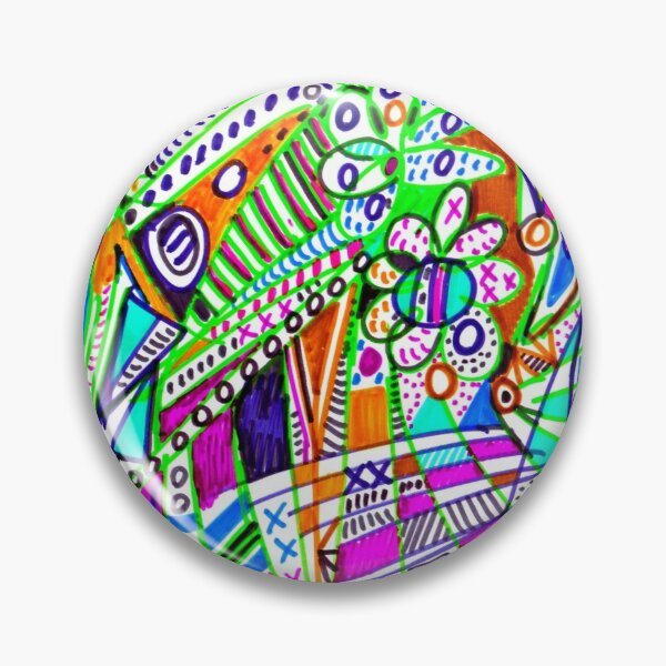 Ubiquitous színezett heresy (contemporary art) Pin