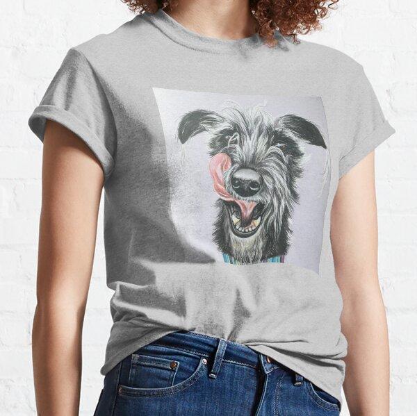 Cheeky scruffy Lurcher Classic T-Shirt