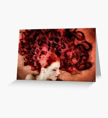 Floating red Greeting Card
