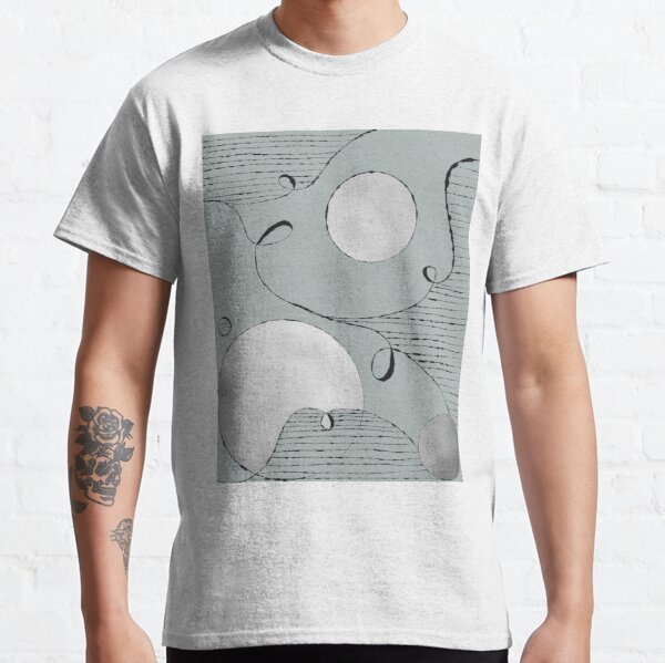 Silver Circles and lines Classic T-Shirt