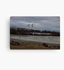 Kite Skiing Canvas Print