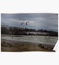 Kite Skiing Poster