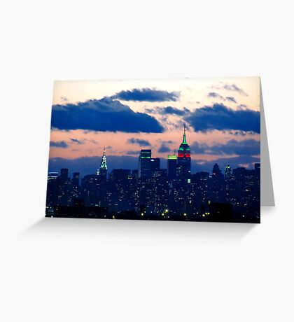 Christmas in New York City  Greeting Card