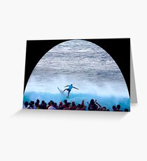 Parko's Pipeline Power Pullout  Greeting Card