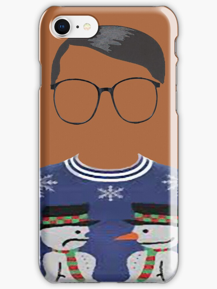 Hipster Blue Ugly Sweater by Brit Sigh