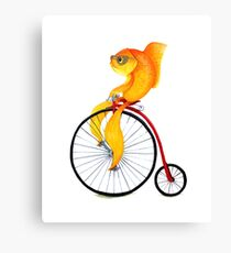 Penny Farthing Fish Canvas Print